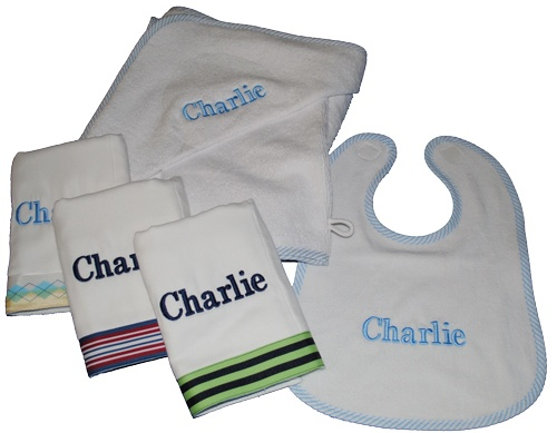 35 best dry off with a personalized towel images on pinterest our essentials plus baby gift set includes 3 personalized burp cloths 1 personalized bib 1 personalized hooded towel negle Images