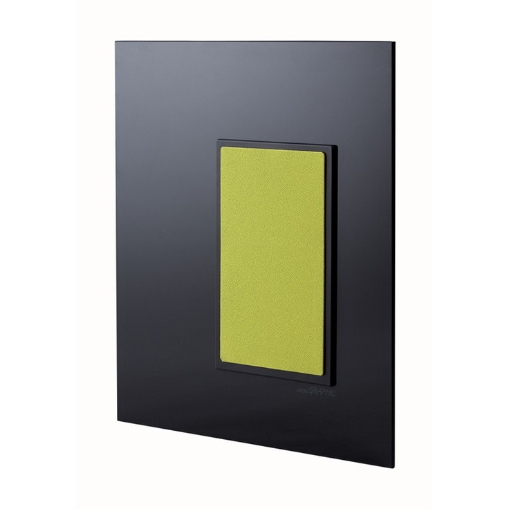 Graphic is the result of close cooperation between Jamo engineers and acclaimed designers Wojtek & Hånsbæk. This wall-mounted stereo speaker is a discreet audio solution for living or dining rooms.     Graphic includes three exchangeable cloth covers in black, light brown and lime green. The front covers are mounted on magnetic frames, so that they can be exchanged by the season, your mood or by interior design—without using tools.