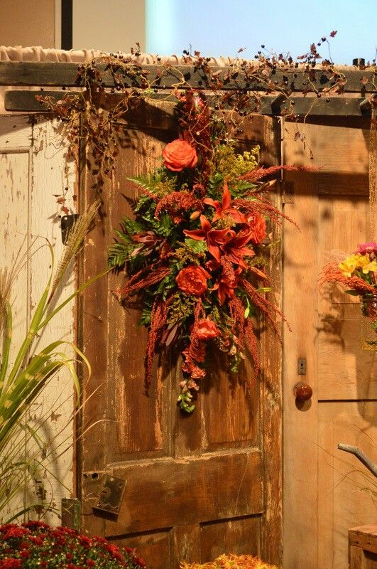 Fall Wedding Old Doors Backdrop By Twig Floral Designs