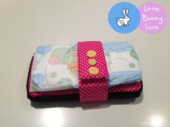 Nappy / Diaper Strap Organiser  Pink and by LittleBunnyLoveShop, $6.00