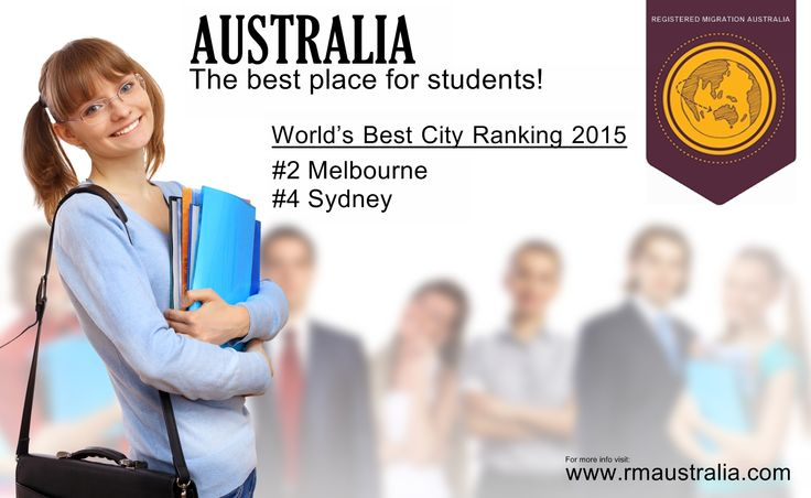 Melbourne has been ranked the second best city in the world for students whilst Sydney has been ranked forth. Four Australian cities made it into QS Top University's Top 50 Best Student Cities for 2015. Canberra came in at 21, Brisbane at 23, Adelaide at 29 and Perth at 38, indicating Australia ranks as one of the best countries to study.