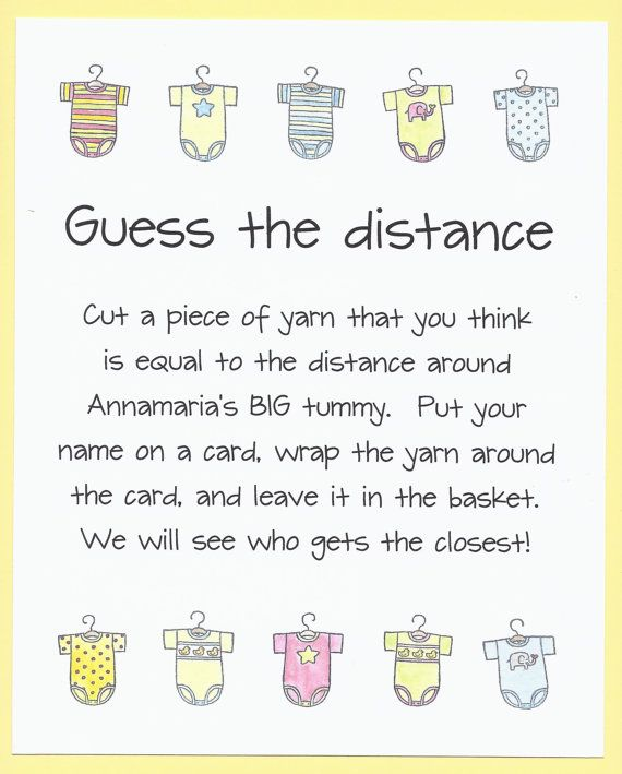 Hey, I found this really awesome Etsy listing at http://www.etsy.com/listing/110202540/baby-shower-game-guess-the-distance