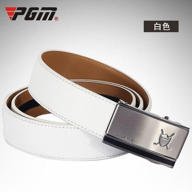 pgm genuine golf belt menu0027s leather belt buckle golf special belt 35mm wide