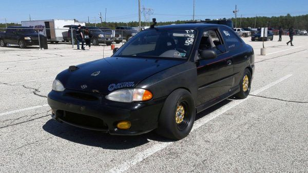 Hyundai Accent with a Turbo Beta Inline-Four