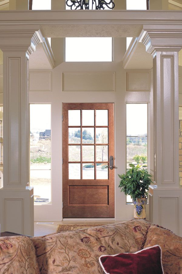 Ponderosa Pine ¾ Lite Sash Door In 12 Lite Over 1 Panel Design. (514