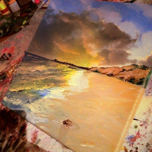 Antonio Drago. Zingarello Bay - Sicily. Oil on canvas. Inverno 2015
