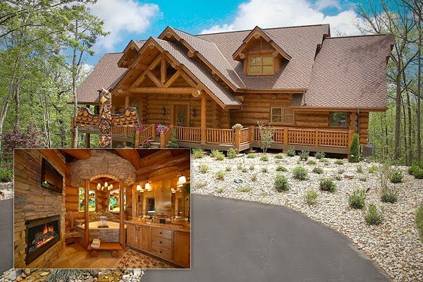 Million dollar log cabin 10 gatlinburg tennessee 10 for Nuvola 9 cabin gatlinburg