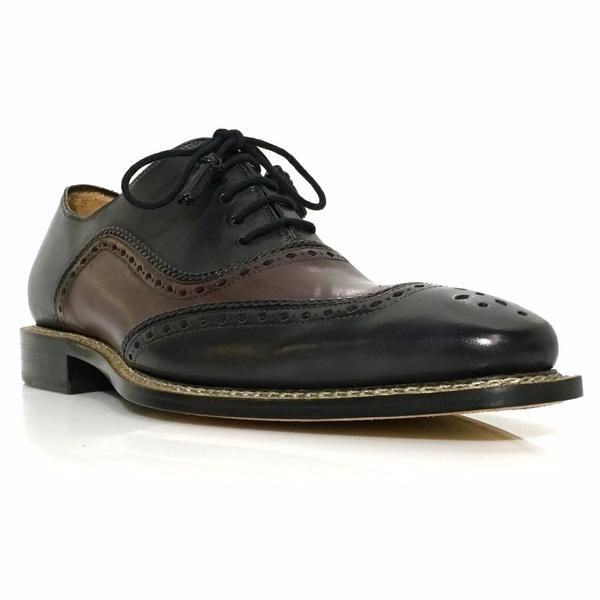 Brand: Mezlan Name: Cadiz Color: Black/Burgundy Style : 6009 Upper: Leather  Lining : Leather Outsole: Leather Handmade In Spain Custom Collection