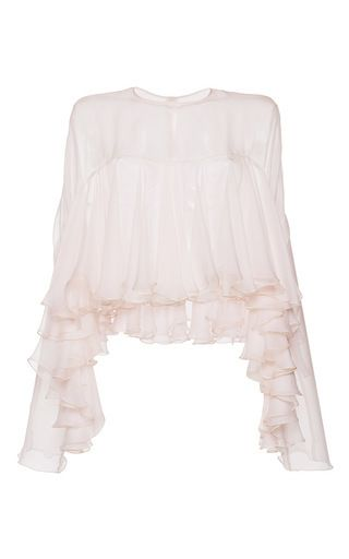 Tiered Ruffle Chiffon Blouse  by PHILOSOPHY DI LORENZO SERAFINI Now Available on Moda Operandi