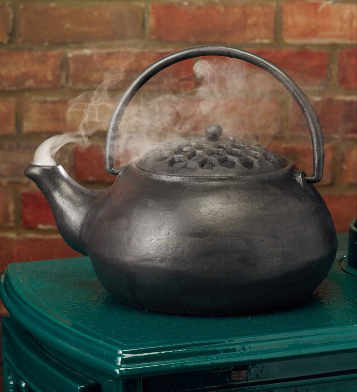 Our 3 QT. Cast Iron Steamer Kettle is perfect for your woodstove!