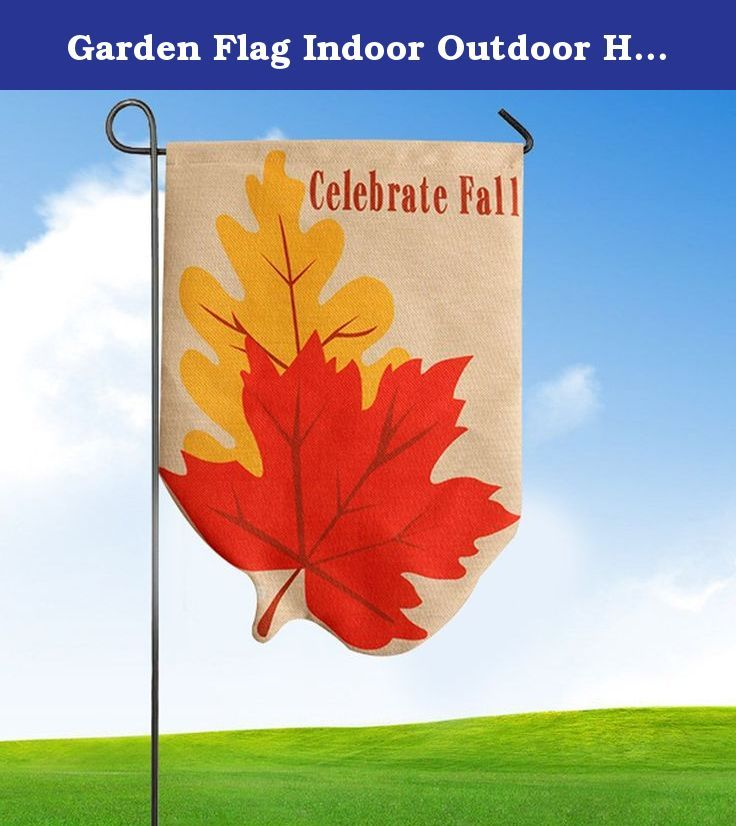 "Garden Flag Indoor Outdoor Home Decor Wensltd Thanksgiving Leaf Pumpkin Fall Flag (A). 100% brand new and high quality. Quantity:1PC Materials:Flax Made out of high quality burlap fabric Color:As Picture Show Approximate dimensions are 32*46cm/12.6*18"" Features a sleeve on top of flag for inserting a pole Wind, weather and fade resistant, suitable for both indoor or outdoor use Machine washable and dryer safe Note:The Metal stake is not included Package Content: 1PC Garden Flag."
