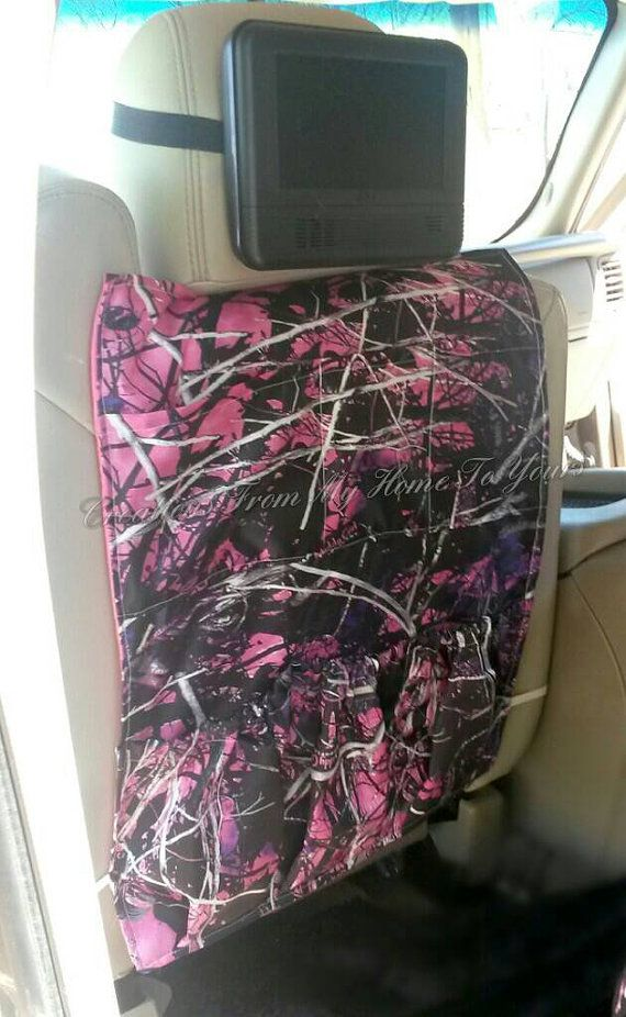 1 pink muddy girl camo car caddy by NanasClosetCreations on Etsy