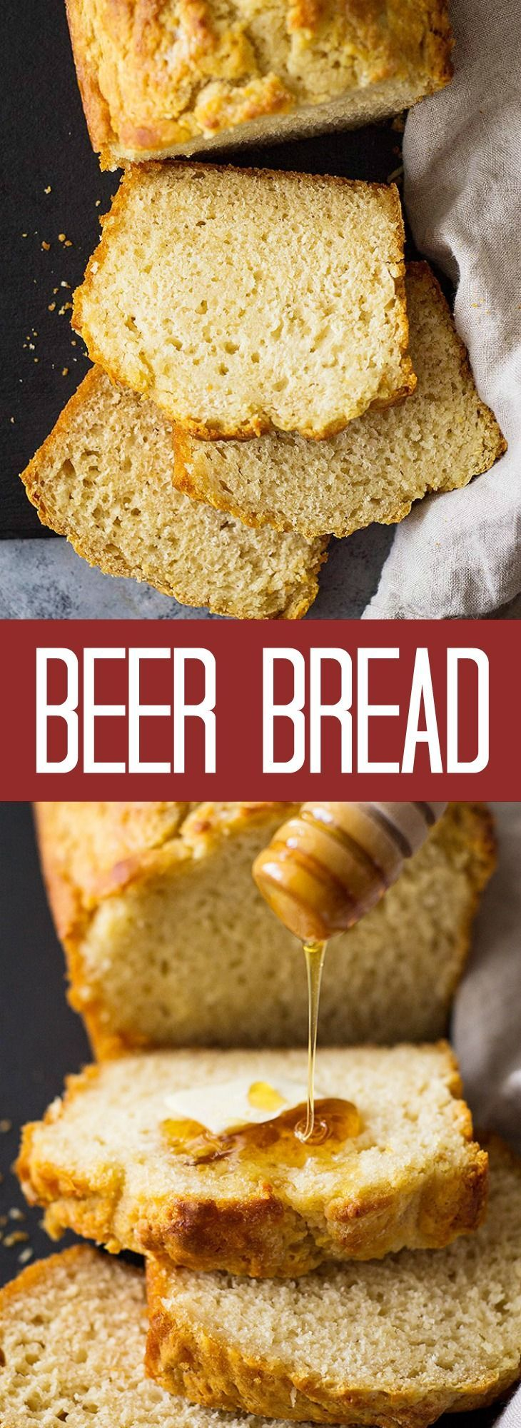 This homemade Beer Bread uses a few simple ingredients to make a wonderfully hearty bread! Great for any meal especially soups!