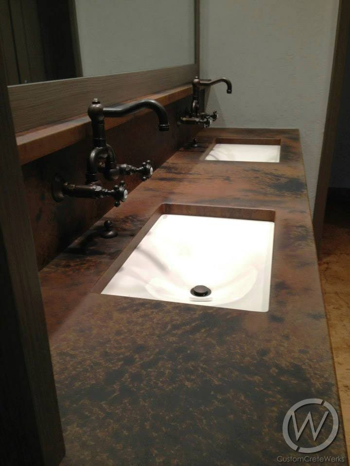 Best Undermount Bathroom Sink Design Ideas Remodel: 38 Best Images About Bathroom Concrete Sinks & Countertops