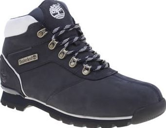 Timberland Navy Splitrock Mens Boots The Timberland Splitrock is light on the feet but heavy on style. This hiking-inspired boot arrives in navy nubuck with white accents for a sporty look. A cushioned EVA midsole and a rugged rubber sol http://www.comparestoreprices.co.uk/january-2017-8/timberland-navy-splitrock-mens-boots.asp