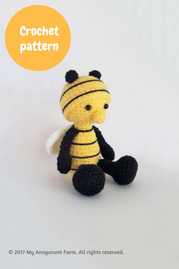 Crochet bee amigurumi pattern