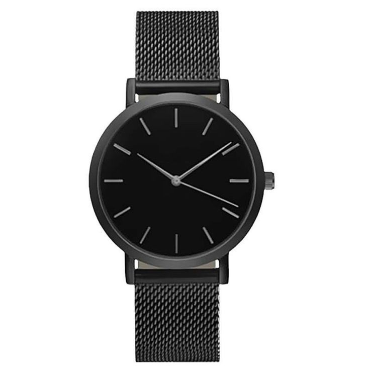 Classic Women's Men's Wrist Watch Mesh Stainless Steel Strap Analog Quartz Simple Style Designed Casual Watches Ladies Watch-in Women's Watches from Watches on Aliexpress.com   Alibaba Group