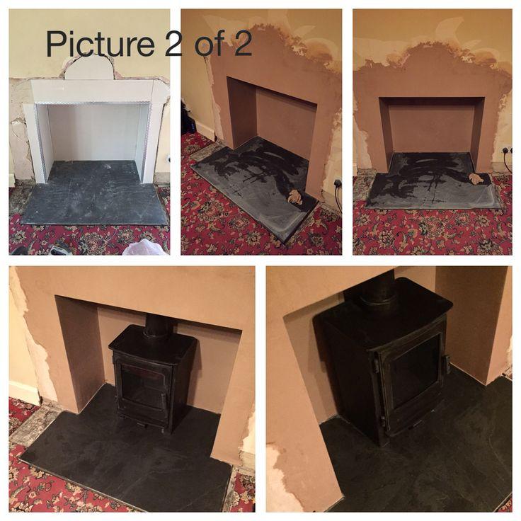 #Stove #installation #multifuel stove #woodburning stove #huddersfield #yorkshire #home #design #decor #living #chimney #truncated