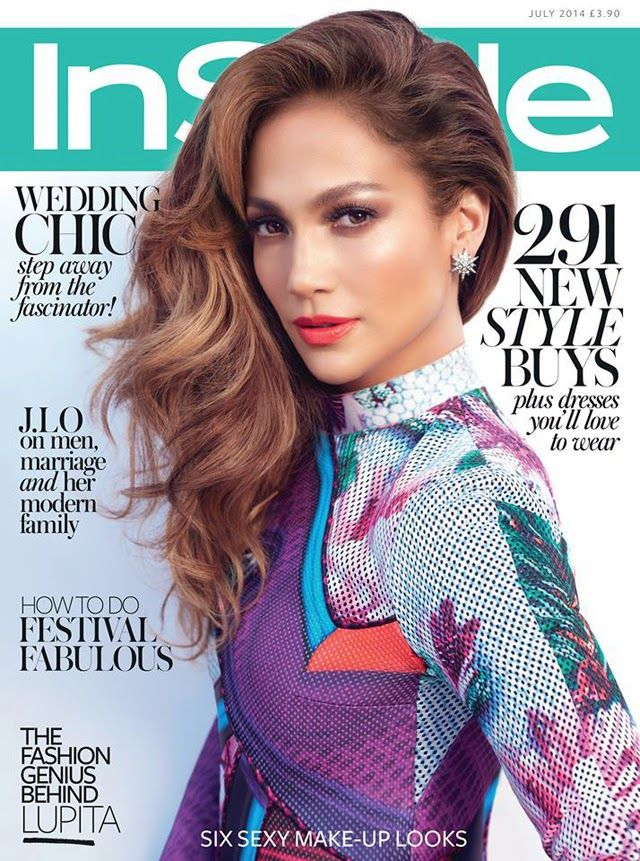 Jennifer Lopez wears Mary Katrantzou for Instyle UK July 2014 cover