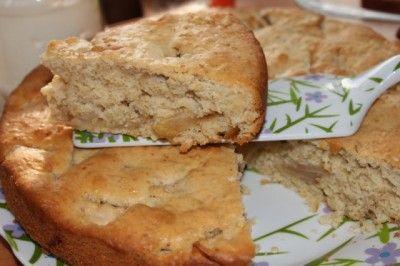 Яблочный пирог с овсянкой : Выпечка сладкая