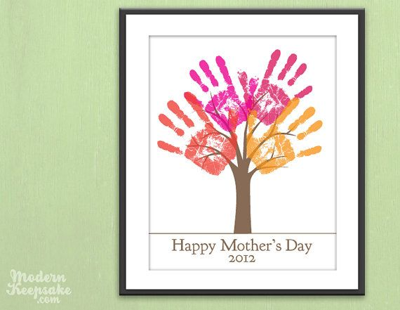 Mother's Day Gift  DIY Child's Handprint