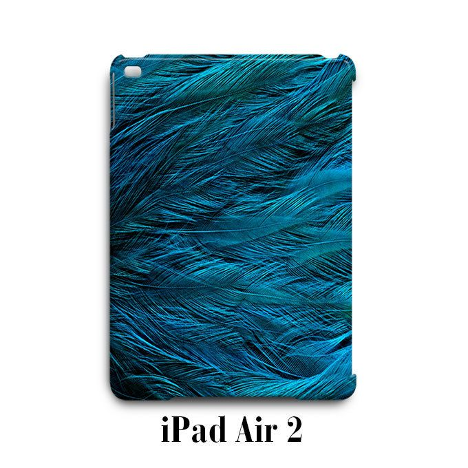 Turquois Feathers Blue iPad Air 2 Case Cover Wrap Around
