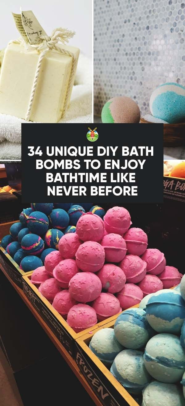 34 Unique DIY Bath Bombs to Enjoy Bathtime Like Never Before