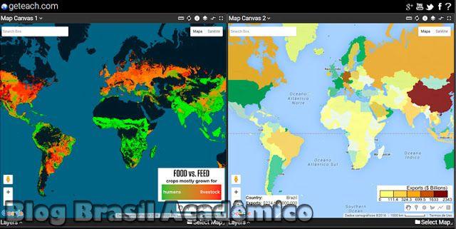 Compare mapas online com o geteach.com | Brasil Acadêmico