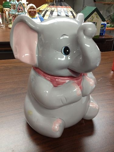 Vintage Elephant Cookie Jar | eBay