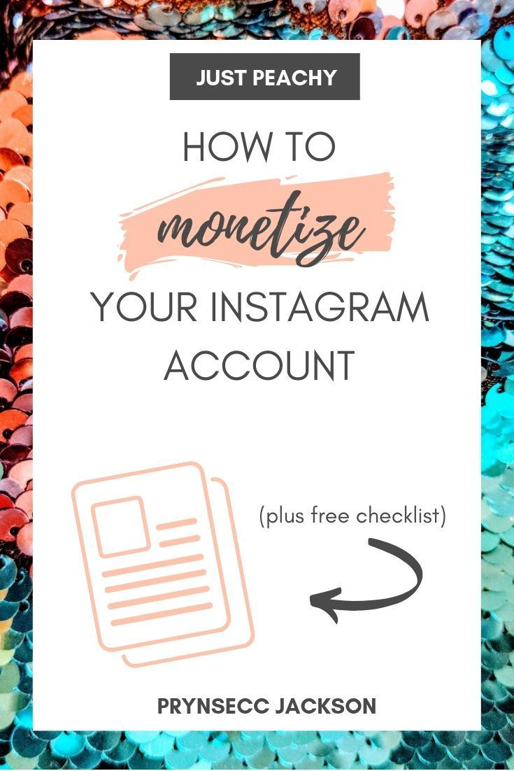 How To Make Money Instagram Account