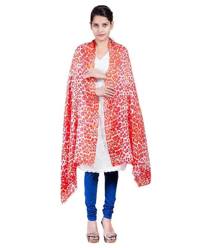 Shaw Collection's Multicolor Woolen Floral Casual Stole