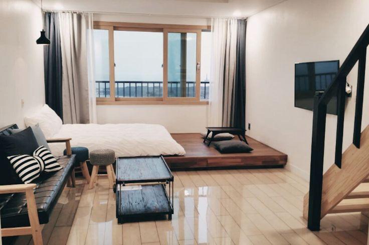 Loft Ocean View, Wedding cafe B&B(최대4인)-301호 - Namwon-eup, Seogwipo-si의 게스트하우스에서 살아보기