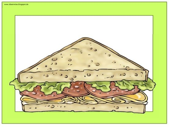 ideenreise flashcards wordcards let s make a sandwich englischunterricht pinterest. Black Bedroom Furniture Sets. Home Design Ideas