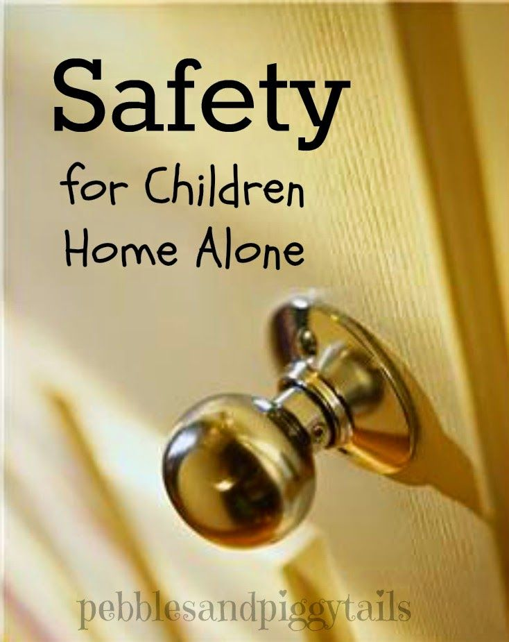 Safety for Children Home Alone.  Good tips and reminders to teach your children for when they are alone at home.