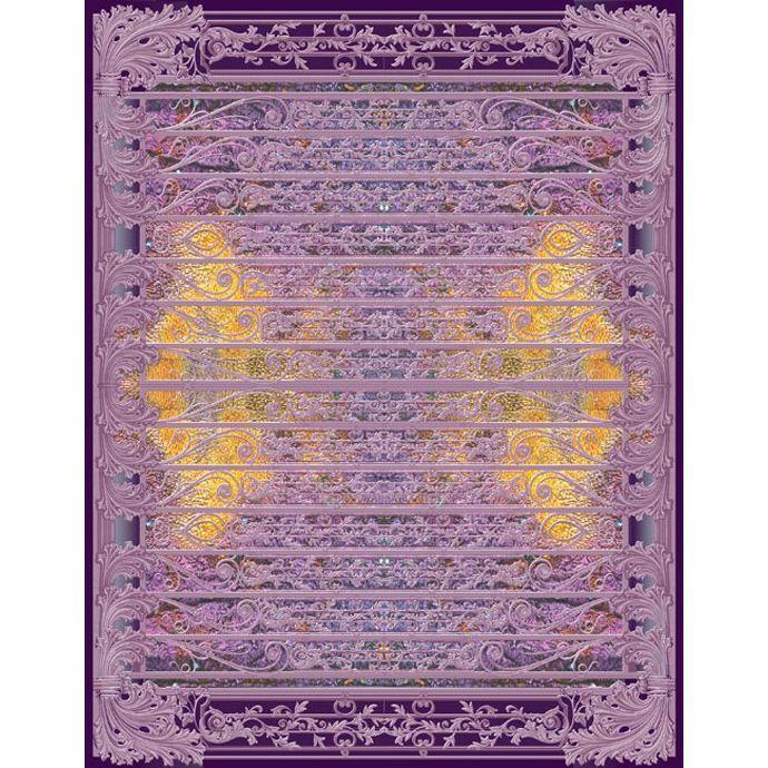 Фиолетовый ковер с объемным изображениям Edem