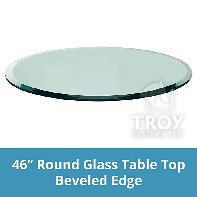 Round Glass Table Top 1 2 12mm Thick Beveled Edge Tempered Glass 46 Inch Review Glass Top Table Round Glass Table Round Glass Table Top