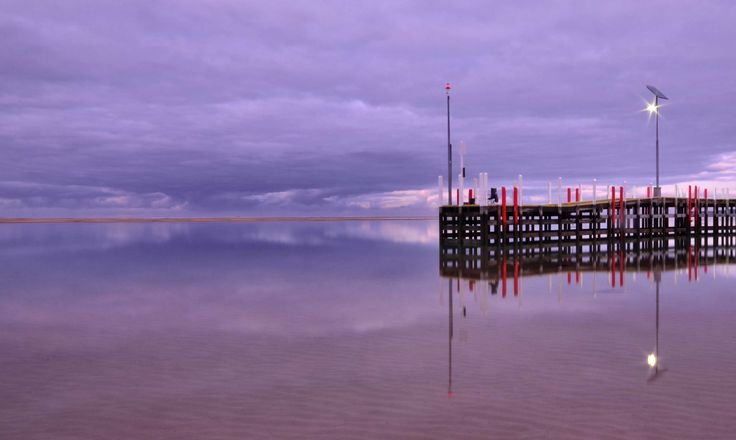 RoyalAuto, September 2015. Things to do around Inverloch. Photo: Anne Morley  #racvinverloch #RACVResort #Inverloch #BassCoast #getaway #relax #dawn #sunrise #InverlochJetty #jetty #pier #purple #reflections