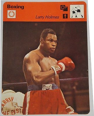 Larry Holmes  Large Vintage Early Boxing Trading Card