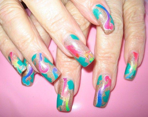 Best 25 airbrush nail art ideas on pinterest 3d nails art day 90 abstract airbrush nail art prinsesfo Images