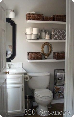 love shelves in the bathroom
