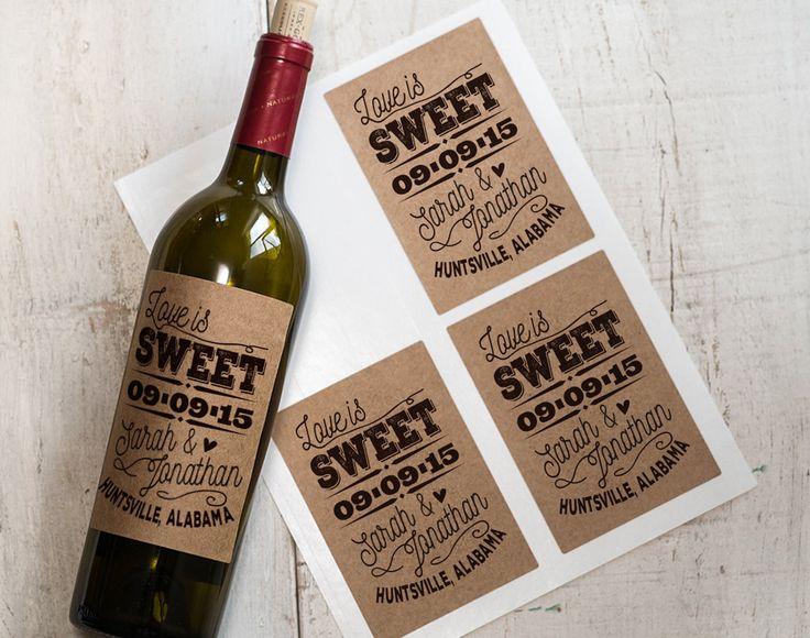 The Coolest Wedding Wine Label Designs | Weddingbells