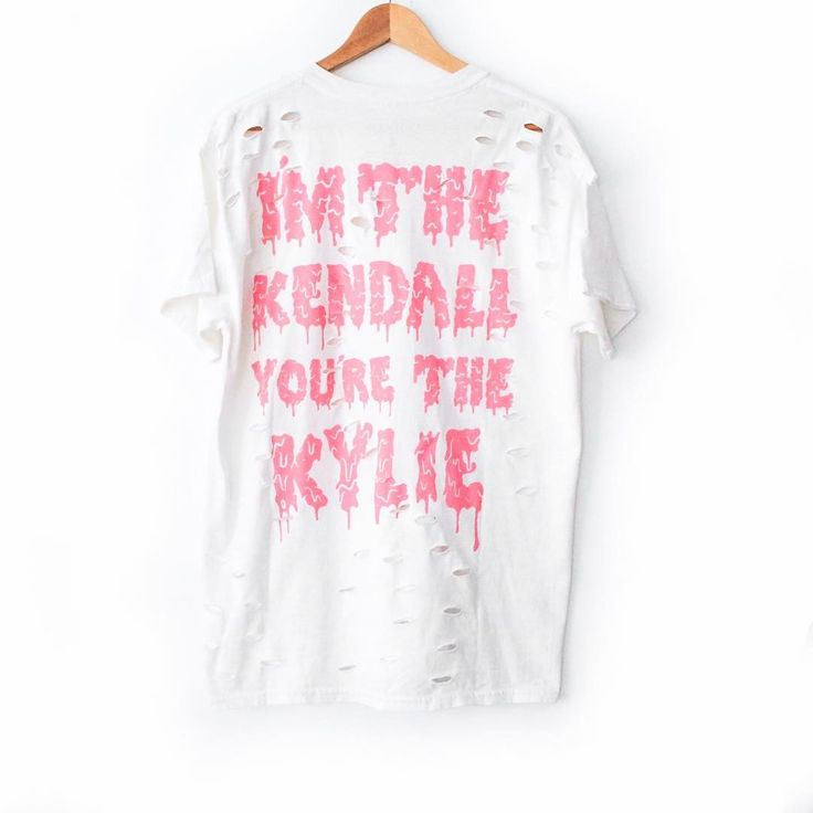 @thekylieshop: Kendall & Kylie T-shirt Version 2 launching Valentines Day