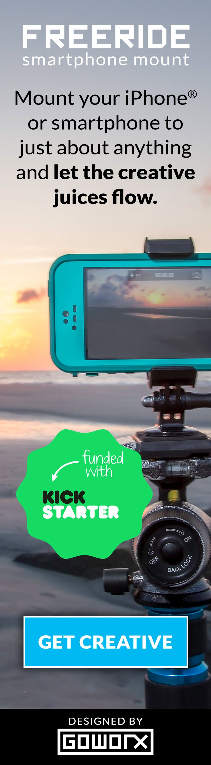 [Calling All Camera Lovers] Are you ready to unlock your phone's creative potential? Grab a FreeRide! Works with thousands of GoPro® Mounts, Tripods, and Action Cam Mounts. Now Available: https://freeridemount.com