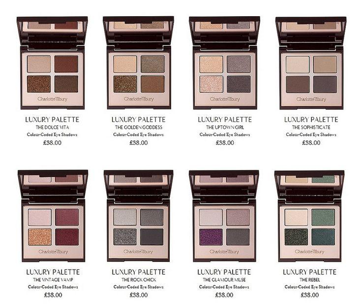 Charlotte Tilbury Eyeshadow Palettes - I want them all!! ♥