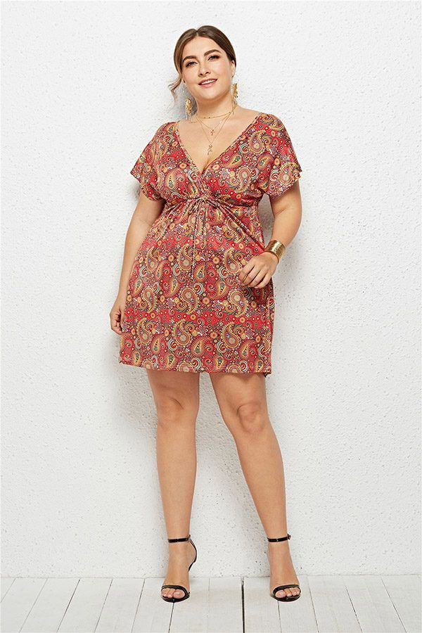 28ab831679 Hualong Cute Floral Printed Cheap Plus Size Summer Dresses in 2019 ...