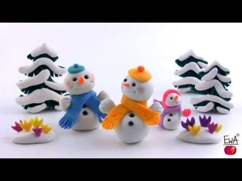 ▶ LET'S CLAY. SNOWMAN - polymer clay -tutorial - YouTube by LetsClay WithEwa