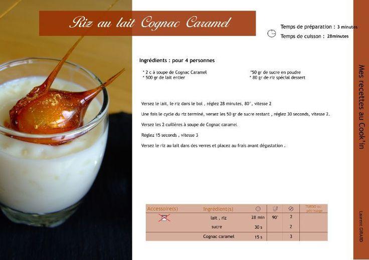 Riz au lait Cognac caramel