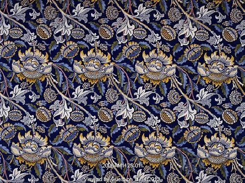 Wey furnishing fabric, by William Morris. England, 1883