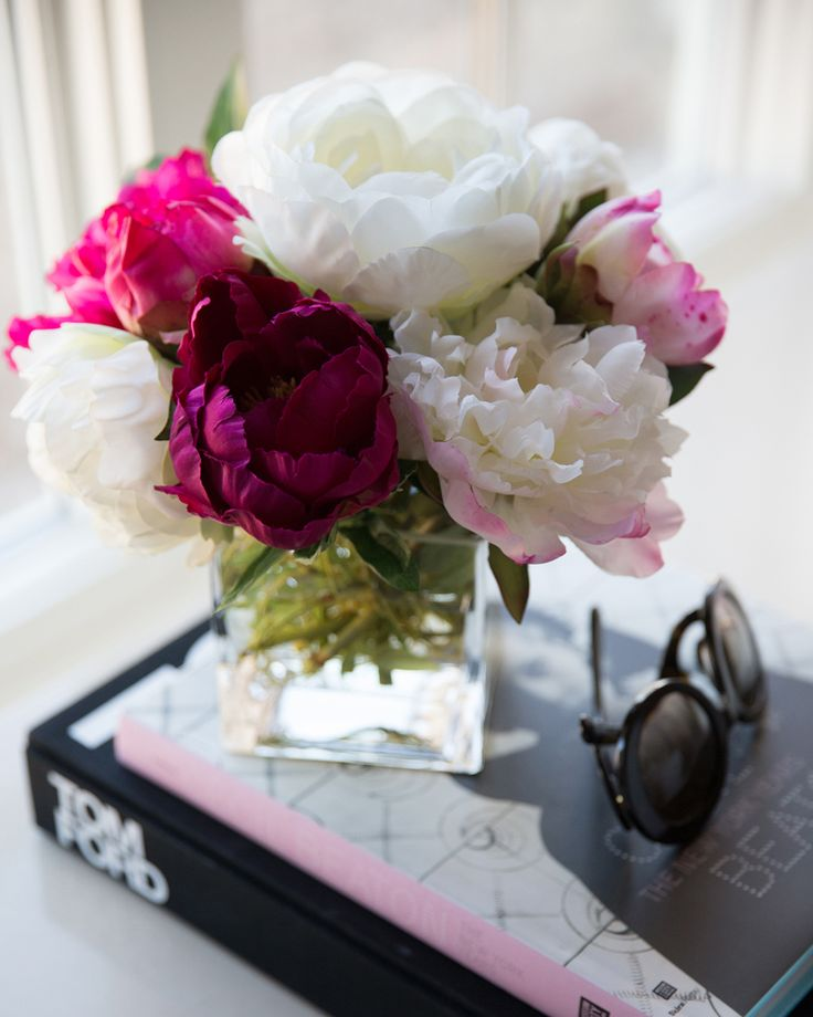 Alice Lane Home Collection | Rachel Parcell - Pink Peonies office/closet | peonies, cecil beaton, tom ford