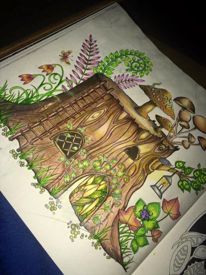 Enchanted Forest Tronco Floresta Encantada Johanna Basford